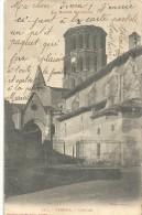 .127. VERFEIL . L'EGLISE ..JOLI VERSO DE 1903 . 2 SCANES .. - Verfeil