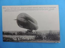 """1055. Le """" Torres-Quevedo """" Dirigeable Militaire Espagnol, Dans Le Parc De Guadalajara. - Airships"""