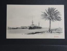 TUNISIE - Bizerte : Navire De Guerre Entrant Au Port - Petit Format - P 15164 - Tunisie