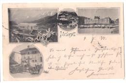 MALOJA: 4-Bild-AK Mit Postkutschen 1895 - GR Grisons