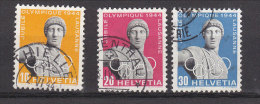 1944  N° 259W à 261W     OBLITERE  A 15 % DE LA COTE   CATALOGUE ZUMSTEIN - Suisse