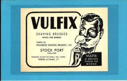 """ VULFIX "" - Shaving Brushes - ADVERTISING - PUBLICIDADE - Pincéis Para Barbear - Palma & Pereira - Lisboa Portugal - Advertising"