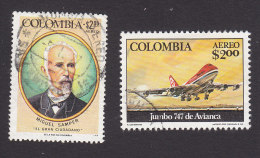 Colombia, Scott #C631, C633, Used, Samper, 747 Jumbo Jet, Issued 1976 - Colombia