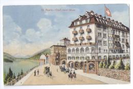 ST.MORITZ: Hotel Albana Mit Kutschen ~1910 - GR Grisons