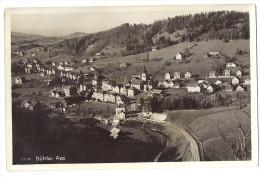 BÜHLER: Generalansicht Mit Bahnlinie 1935 - AR Appenzell Rhodes-Extérieures