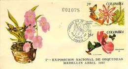COLOMBIA 1967.05.23 F.D.C.: I Exposicion De Orquídeas - Colombia