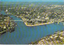 78 - CONFLANS STE HONORINE : Vue Aérienne - Joli Petit Lot De 2 CPSM Grand Format 1978 Dont Avec Péniches - Yvelines - Conflans Saint Honorine