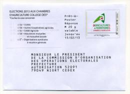 2013 CHAMBRES D'AGRICULTURE - Entiers Postaux