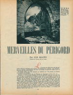 1952 : Document, LE PERIGORD (5 Pages Illustrées) Domme, La Roque-Gageac, Beynac, Sarlat, Cadouin, Les Eyzies, Lascaux.. - Vieux Papiers