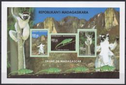 Madagascar Madagaskar 2002 Mi. 2590/2591/2592 Faune Fauna Lemur Catta Lemurien Animals S/S IMPERF Bloc Block RARE !