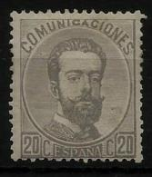02152 España EDIFIL 123 *  Catalogo 198,-€ - 1872-73 Regno: Amedeo I
