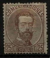 02153 España EDIFIL 124 (*)  Catalogo 75,-€ - 1872-73 Reino: Amadeo I