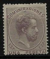 02155 España EDIFIL 127 (*)  Catalogo 143,-€ - 1872-73 Regno: Amedeo I