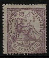 02161 España EDIFIL 148 (*) , Catalogo 600,-€ - 1873 1. Republik