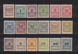 1923   MICHEL  Nº  313 A / 333 A    / ** / - Alemania