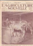 L' AGRICULTURE NOUVELLE N° 1430   8 Novembre 1924  .-La Traite Des Vaches Dans Une étable En Alsace - 1900 - 1949
