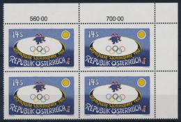 **Österreich Austria 1998 ANK 2274 Mi 2243 (1) Block Of 4 Olympic Winter Games Nagano Painter Gottfried Kumpf MNH - 1945-.... 2. Republik
