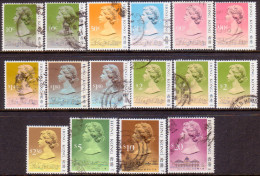HONG KONG 1989-91 SG #600//614 Selection Of 16 Used Stamps W/different Imprint Dates 1989-1991 - Used Stamps