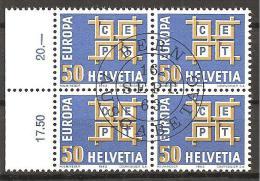 Schweiz 1963 // Mi. 781 O 4er (M.029..630) - Europa-CEPT