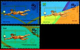 Ref. BR-OLYM-E25 BRAZIL 2015 - SPORTS, OLYMPIC GAMES, RIO 2016,, VOLLEYBALL,STAMPS OF 3RD & 4TH SHEET,MNH,3V - Ongebruikt