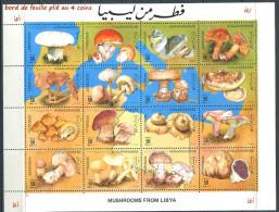 154 LIBYE 1985 - Champinons (Yvert 1557/72 En Feuillet) Neuf (MNH) Neuf ** (MNH) Sans Charniere - Libye
