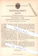 Original Patent  -  Wilh. Imhoff In Cassel , 1885 , Kurzwaaren !!! - Briefmarken
