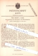 Original Patent  -  Wilh. Imhoff In Cassel , 1885 , Kurzwaaren !!! - Postzegels