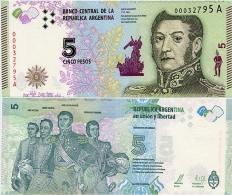 ARGENTINA     5 Pesos    P-New     ND (2015)    UNC  [ Sign.Vanoli - Boudou ] - Argentinië