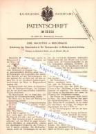 Original Patent  - Emil Mauritius In Kreuznach , 1885 , Elektrische Apparate !!! - Unclassified