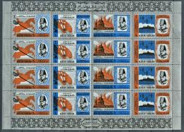 154 KHOR FAKKAN (Sharjah) 1966 - Churchill (Mi 4 X 46/49 En Feuille Argent) Neuf ** MNH) Sans Charniere - Khor Fakkan