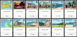 SERIE COURANTE ( VUES D'AURIGNY ) AVEC BORD DE FEUILLE - Alderney