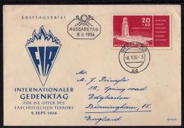 A5225 GERMANY (DDR) 1956, Internationaler Gedenktag Faschistischen Terrors, FDC - DDR