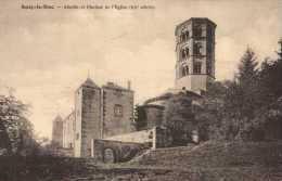 Cpa 71 Anzy Le Duc Abside Et Clocher De L´église  XII Siècle - Otros Municipios