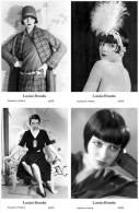 LOUISE BROOKS - Film Star Pin Up - Publisher Swiftsure Postcards 2000 SET 77-80 - Artisti