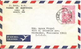 Peru Air Mail Cover Sent To USA 1968 Single Franked - Peru