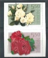 Norvège 2002 N°1397/1398 En Paire Neufs** Roses - Norvegia