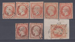 FRANCE - 16 Obli (8 Ex) Cote 144 Euros Depart A 10% - 1853-1860 Napoleon III