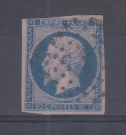 FRANCE - 14g Obli (nuance Bleu Sur Rose) - 1853-1860 Napoleon III