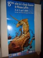 ANCIENNE AFFICHE EXPO BD / 15ièm SALON BD MAISONS- LAFFITTE 2005  / DESSIN CAZA - Plakate & Offsets