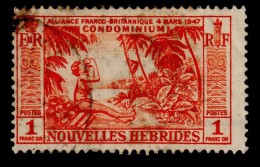 NEW HEBRIDES NOUVELLES HEBRIDES 1957 1F Definitive SG F104 - Very Fine Used VFU - 1B283 - French Legend