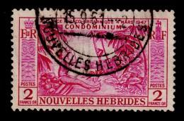 NEW HEBRIDES NOUVELLES HEBRIDES 1957 2F Definitive SG F105 - Very Fine Used VFU - 1B286 - French Legend