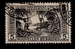 NEW HEBRIDES NOUVELLES HEBRIDES 1957 5F Definitive SG F106 - Very Fine Used VFU - 1B287 - French Legend