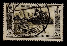 NEW HEBRIDES NOUVELLES HEBRIDES 1957 25c Definitive SG F100 - Very Fine Used VFU - 1B289 - French Legend