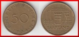 **** SARRE - SAARLAND - 50 FRANKEN 1954 **** EN ACHAT IMMEDIAT !!! - Saar