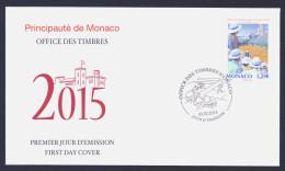 """2015 MONACO """"TENNIS MONTECARLO ROLEX MASTERS"""" FDC - FDC"""