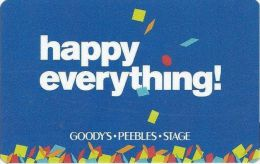 Goody´s - Peebles - Stage Gift Card - Gift Cards