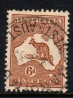"Australia 1929    ""6d.Brown ´Roo -  Sm.Multi WMK""    FU  (0) - 1913-48 Kangaroos"