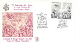 VATICAN  FDC    NUM.YVERT  634/635 GREGOIRE XI RETOUR AVIGNON - Covers & Documents