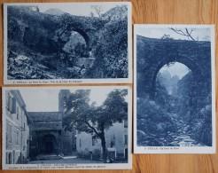 06 : Utelle - 3 CPA Issues D'un Carnet : Pont Du Riou - Vue De La Cime Du Diamant - Eglise St-Veran - (n°5377) - France