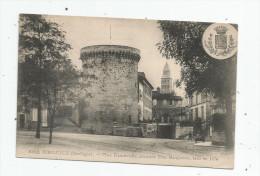 Cp , 24 , PeRIGUEUX , Place FRANCHEVILLE , Ancienne Tour MATAGUERRE , Blason , Animée , Voyagée - Périgueux